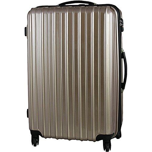 (PORTA)6255 ダブルジップスーツケース Lサイズ 大型 TSAロック (GOLD)