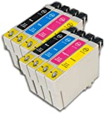 8 Chipped Epson T0711-4 (T0715) Cheetah Compatible Ink Cartridges for Epson Stylus SX515W Printer