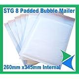 50 White Padded Bubble Envelopes Books 260x345mm STG 8 (H)by STG
