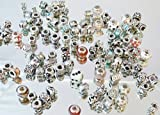 100 Great Colourful Beads Mixed Insolvency, Business Solution Jar, Silver, Rhinestone