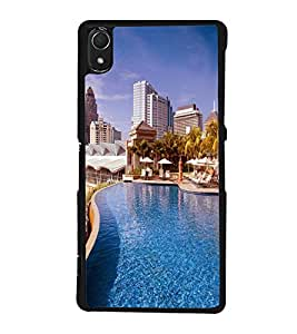 printtech Building Waterpool Back Case Cover for Sony Xperia Z2 , Sony Xperia Z2 L50W D6502 D6503