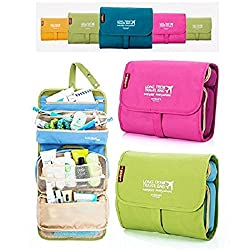 Evana 1Pcs Portable 3 in 1 Detachable Cosmetic Toiletry Medicine Bag Storage Make up Pouch Travel Organizer with Large Capacity& Hanging Strap (Assorted Colors)