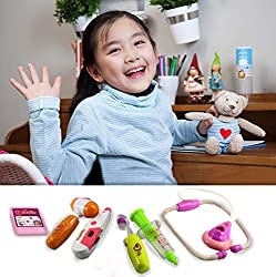 8 Piece Doctor Medical Toy Tool Kit Set with Carry Case - For Kids and Children