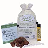 NaturOli Soap Nuts / Soap Berries 1/2-Lb USDA ORGANIC (120 loads) + 18X BONUS! (12 loads) Select Seedless. Wash Bag, Tote Bag, 8-pg info. Organic Laundry Soap / Natural Cleaner. Processed in USA!