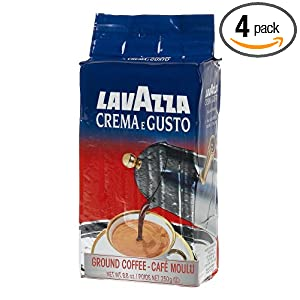 4-pack of Lavazza Crema e Gusto Ground Coffee, Italian , 8.8-Ounce Bricks $14.65