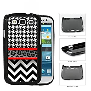 Amazon.com: Black And White Hounsdtooth Animal Print lsh Rubber
