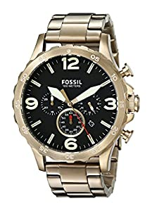 Fossil Men's JR1493 Nate Analog Display Analog Quartz Gold Watch