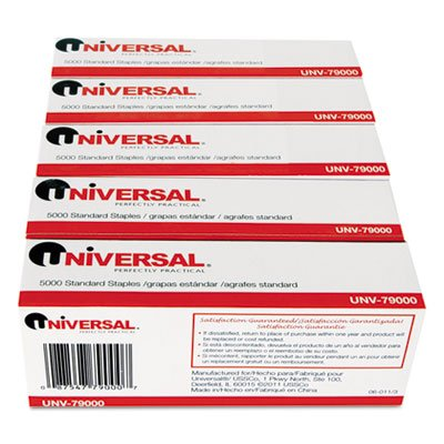 Universal-Standard-Chisel-Point-210-Strip-Count-Staples-5000Box-5-Boxes-per-Pack-25000-Staples-Total