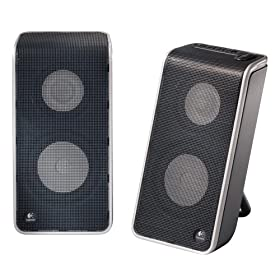 Logicool USB�ڑ��|�[�^�u���X�s�[�J�[ V20 Notebook Speakers V-20