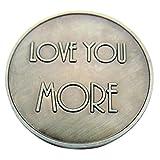 Love You More XO Pocket Token 1 1/4 Inch
