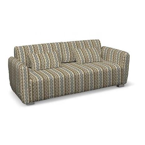 Dekoria Mysinge 2-Sitzer Sofabezug beige-schwarz