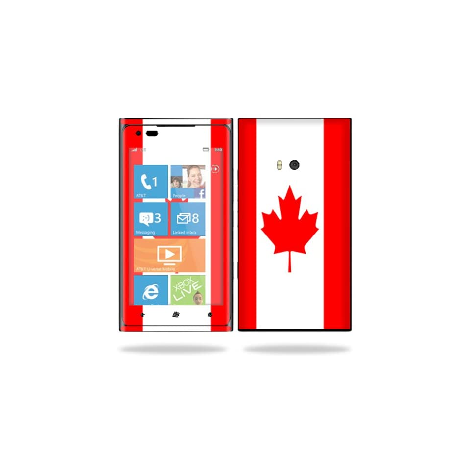 Protective Vinyl Skin Decal Cover for Nokia Lumia 900 4G Windows Phone AT&T Cell Phone Sticker Skins Canadian Pride Cell Phones & Accessories