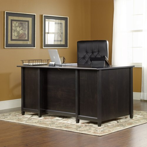 Buy Low Price Comfortable Executive Computer Desk – Estate Black Finish (B003TLK4EE)