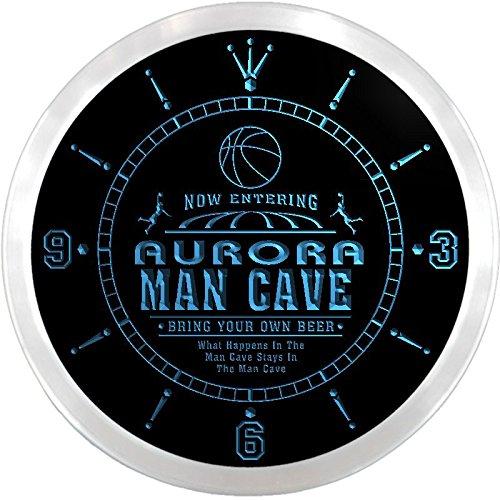 Ncqc2106-B Aurora Basketball Mave Cave Den Beer Bar Led Neon Sign Wall Clock