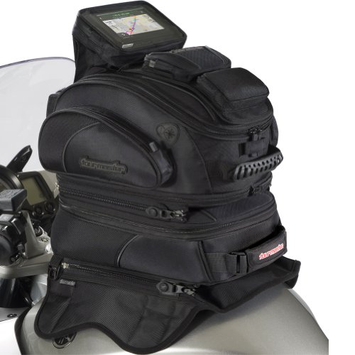 Tour Master Elite Strap Mount Tri-Bag Motorcycle Tank Bag - Black / One Size (Rv Black Tank Tablets compare prices)