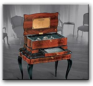 Orchestrion Reuge Music Box Grand Cartel Inlaid 20.144 Movement, Limited Edition of 20