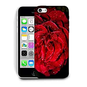 Snoogg Water On Red Rose Printed Protective Phone Back Case Cover For Apple Iphone 5C