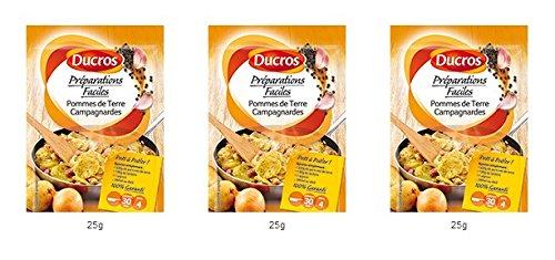 DUCROS - Solutions Cuisson - Preparations Faciles Pret a poeler - Pommes de Terre Campagnardes - 25 g - lot de 3