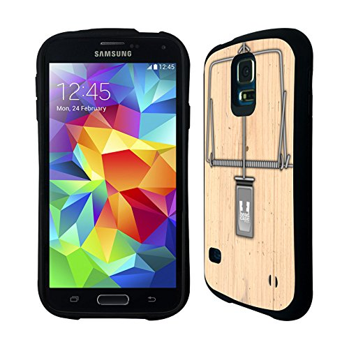Head Case Designs Mouse Trap Hybrid Gel Back Case For Samsung Galaxy S5