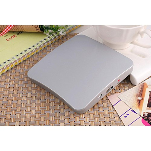 2600mAh Window Mounted Solar Energy Powered Rechargeable Power Bank for Mobile Devices(Silver)