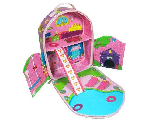 Imagen de Neat-Oh! ZipBin Doll House Bring-A lo largo de Mochila (colores y estilos de la muñeca puede variar)
