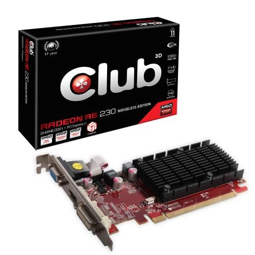 Best Offer CLUB3D Radeon R5 230 2GB Noiseless Edition family Radeon