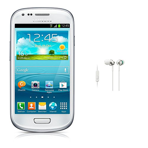 Samsung Galaxy S3 Mini Gt-I8200 Factory Unlocked International Version (White) With Stepup Exseries In-Ear Headphones