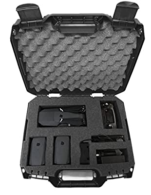 DRONESAFE Rugged Mini Drone Carry Case Organizer With Customizable Foam - Protect DJI Mavic Pro Foldable Drone Combo and Accessories Such as Remote Control , Extra Batteries , Propellers and More by CASEMATIX