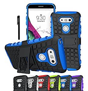 LG G5 Case, OEAGO LG G5 Cover Accessories - Tough Rugged Dual Layer Protective Case with Kickstand for LG G5 - Blue