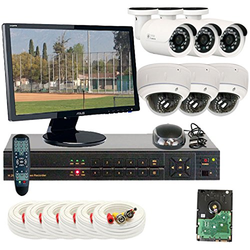 """Professional 8 Channel H.264 960H & D1 Realtime Dvrsecurity Camera System With 6 X 1/3"""" Color Sony Cmos Camera, 850 Tv Lines. One Is 3.6Mm Lens, 24Pcs Infrared Led, 49 Feet Ir Distance And One Is 2.8~12Mm Manual Varifocal Lens, 30Pcs Infrared Led, 65 Feet"""