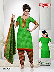 Anand Prints Women's Cotton Unstitched Dress Material (Dno108_MultiColored)