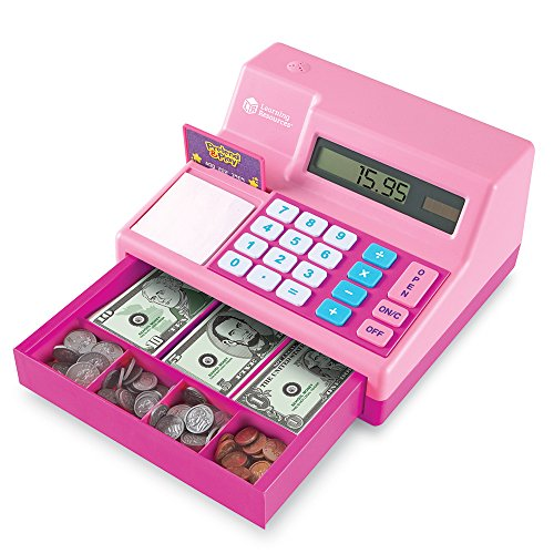 Learning Resources Pretend & Play Cash Register Assorted Pink Playset, Pink, Standard Packaging (Girls Toy Cash Register compare prices)