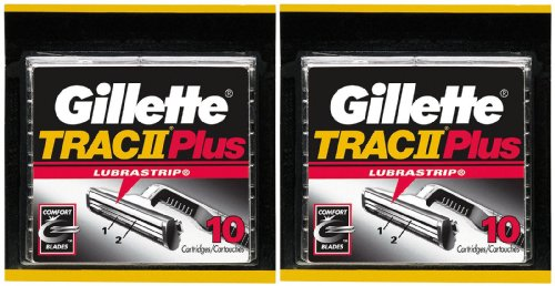 Gillette TRAC II Plus Refill Cartridges - 10 ct - 2 Pack (Gillette Trac Ii compare prices)