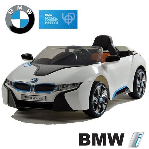#BMW i8 Concept Stromer Cabriolet Ride-On 12V Elektro Kinderauto Kinderfahrzeug Kinder Elektroauto (Weiss)#