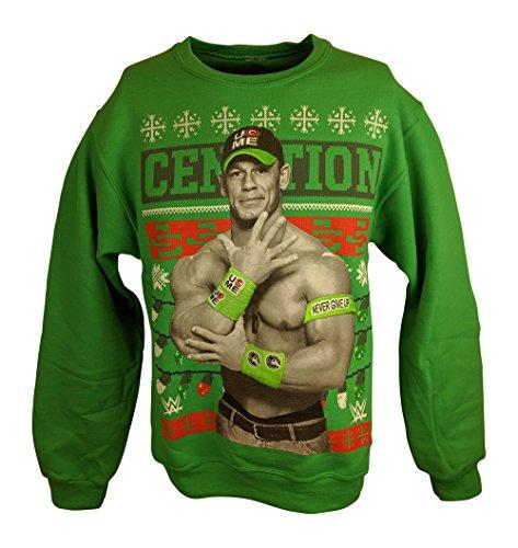 John Cena WWE Green Ugly Christmas Mens Sweater Sweatshirt