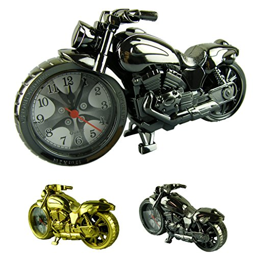 Voberry ® Best Seller Novelty Motorcycle Shape Needle Creative Alarm Clock Good Gift for Friends Birthday (Gray)