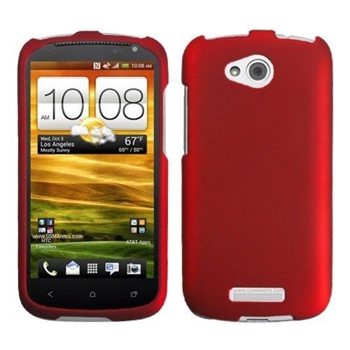 Click to buy HTCONEVXHPCSO202NP Titanium premium caso protector durable de goma para HTC uno VX - 1 Pack - empaquetado al por menor - Rojo - From only $18