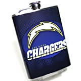 #F3 San Diego Chargers Hip Flask - 8oz. - High Quality Stainless Steel - Hinged Screw Cap - Boxed - at Amazon.com