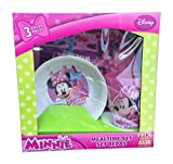 Zak Designs Disney's Minnie Mouse Cup, Bowl and Plate Set