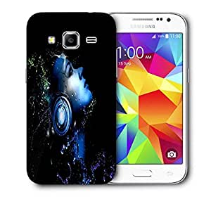 Snoogg Music Listener Printed Protective Phone Back Case Cover For Samsung Galaxy Core Plus G3500