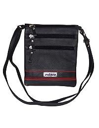 Leather Women's Crossbody Sling Bag (Black) - B01DHYOZ24