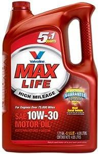 Valvoline 785151 SAE 10W-30 Motor Oil - 5.1 Quart Jug by MaxLife