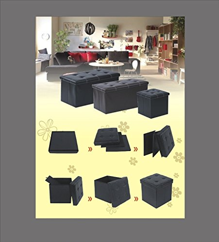 Vencer Classics Foldable Storage Cube/Ottoman,prasinous 30''X15''X15''