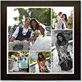 Clixicle **Free Customization** Photo Collage Poster With Brown Frame For Friends, Family, Father, Mother, Valentine... - B01BHOBEG6