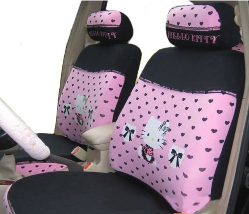 EMS Shipping Lace Auto Car Seat Covers Accessories Set with Kitty Pattren - 10pcs (Model: Zj000149)