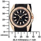 AK Anne Klein Women's 109178RGBK Swarovski Crystal Accented Rosegold-Tone Black Bracelet Watch