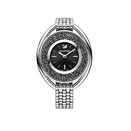 Swarovski orologio donna da polso Crystalline Oval Black Braccialetto Watch 5181664