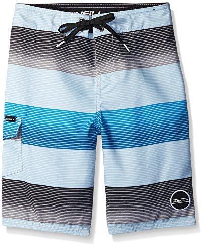 O'Neill Big Boys' Santa Cruz Stripe Boardshort, Blue, 27