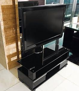 tv m bel lcd plasma lowboard schwarz black halterung inkl motor. Black Bedroom Furniture Sets. Home Design Ideas
