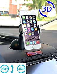 Apps2carTM Universal Car Phone Windshield Dashboard Mount Holder for Iphone 6 6 Plus 5s 5 4s Galaxy S6 Edge S5 S4 S3 Note 4 3 2 HTC One M9 M8 M7 Lg Optimus G4 G3 Nexus 5 4 - 360 Degree Rotatable
